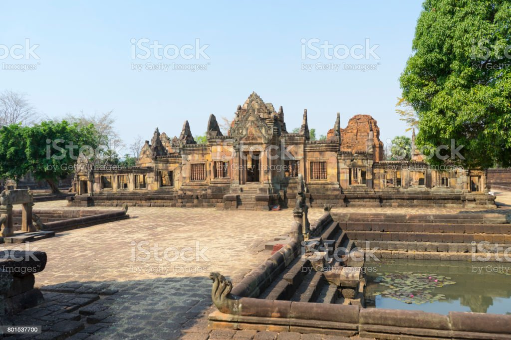 Prasat Hin Muang Tam in Thailand stock photo