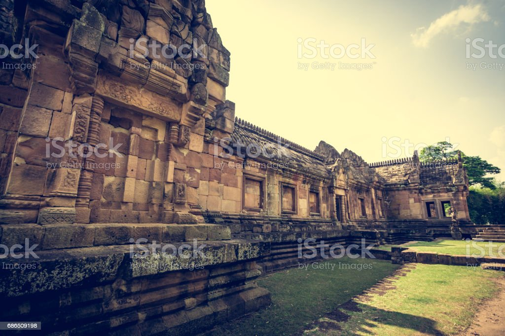 Prasat Hin Phanom Rung or Phanom Rung Stone Castle. stock photo