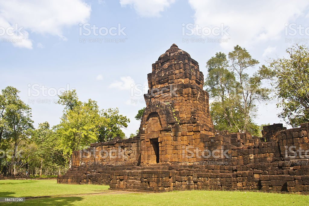 Prasat Muang Singh castle rock stock photo