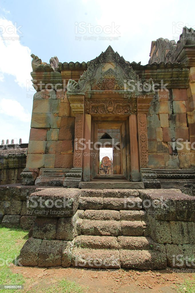 prasat Muang Tam is a Khmer temple in Prakhon Chai stock photo