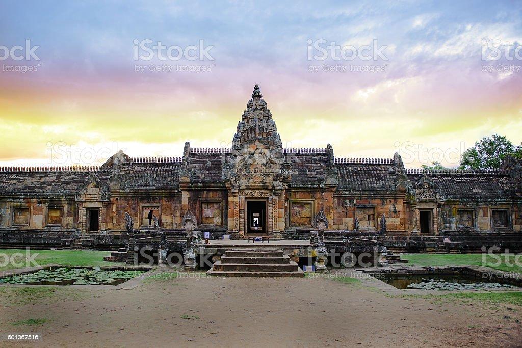Prasat Phanom Rung stock photo