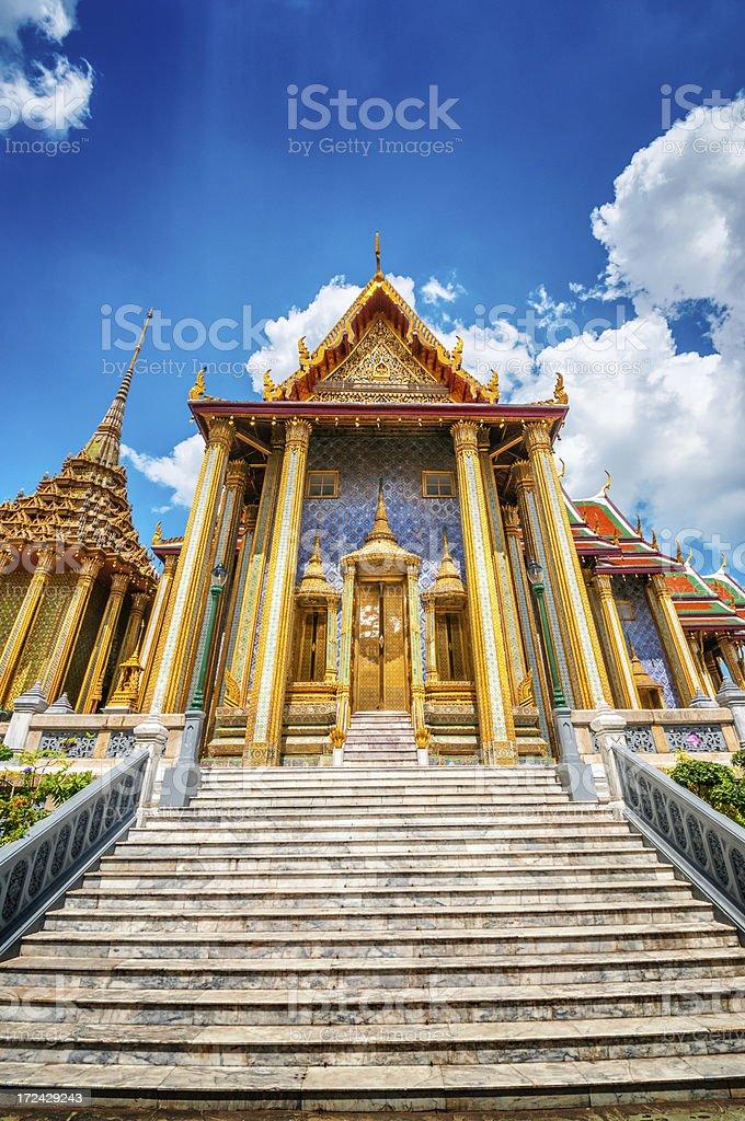 Prasat Phra Thep Bidon in Grand Palace, Bangkok, Thailand royalty-free stock photo