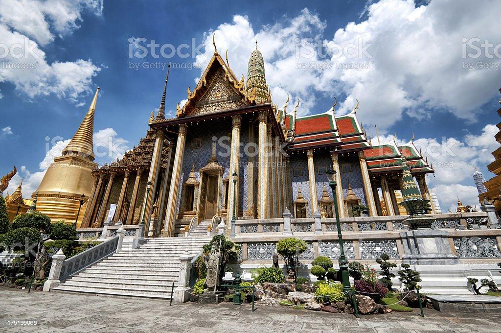 Prasat Phra Thep Bidon in Grand Palace royalty-free stock photo