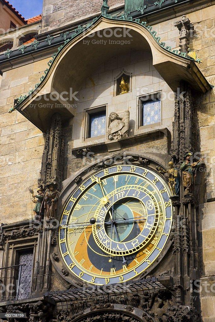 Pra?sk? orloj. Astronomical clock in Prague, Czech republic royalty-free stock photo