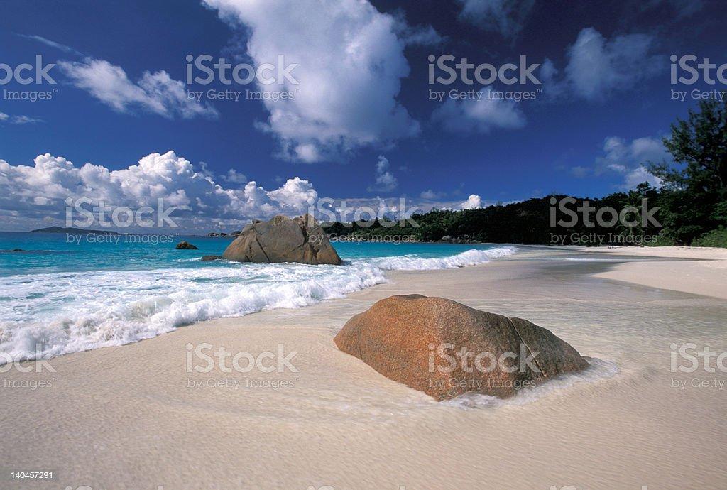 Praslin Anse Lazio royalty-free stock photo