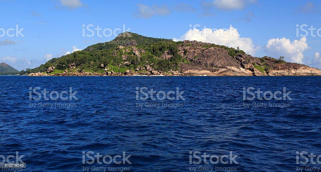 Praslin Island in Indian Ocean stock photo