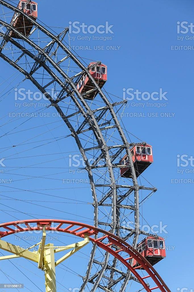 Prater Ferris wheel in Vienna, Austria stock photo