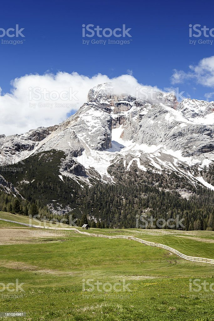 'Prato Piazza, Plaetzwiese. Alto Adige, Dolomites' stock photo