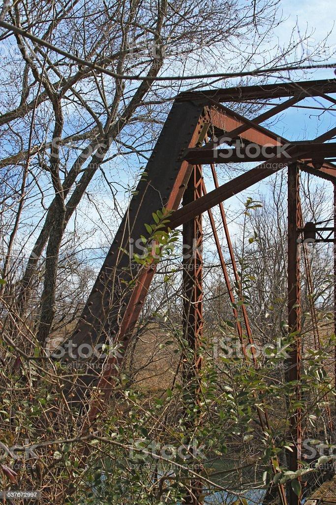 Pratt Truss bridge stock photo