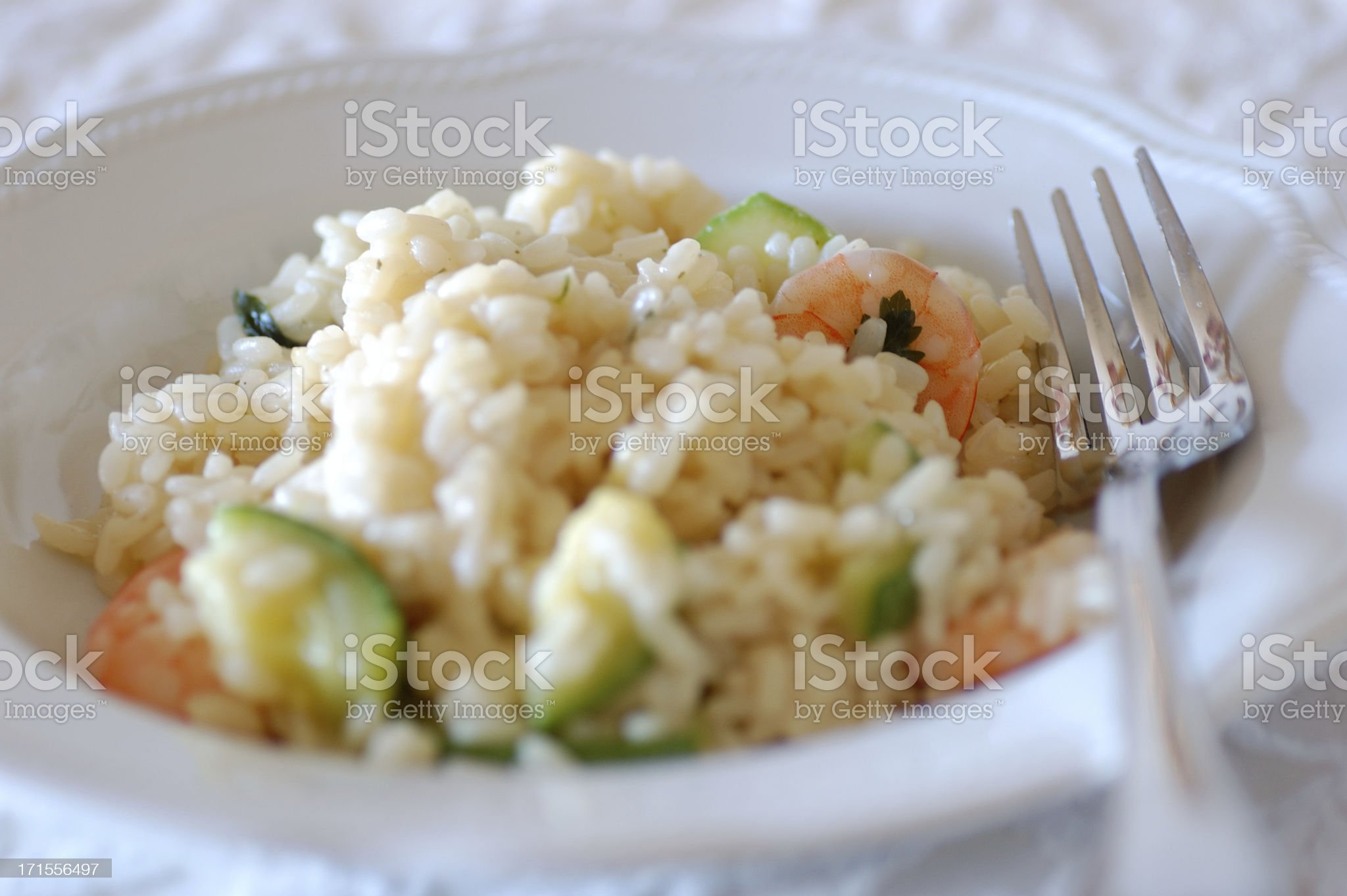 Prawn and Zucchini Risotto royalty-free stock photo