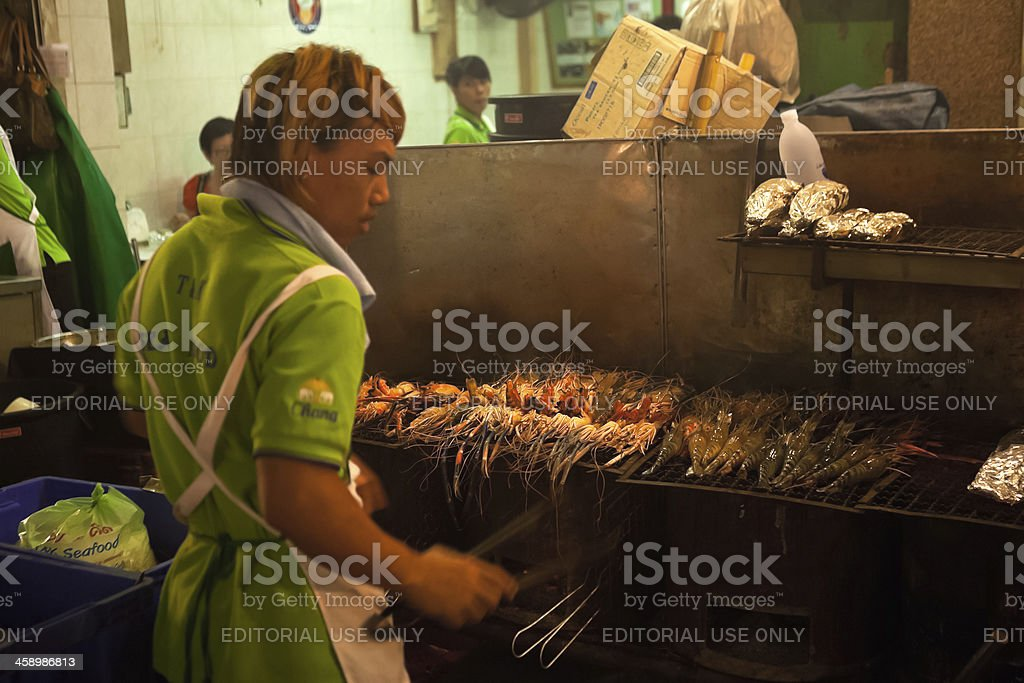 Prawn Barbecue royalty-free stock photo