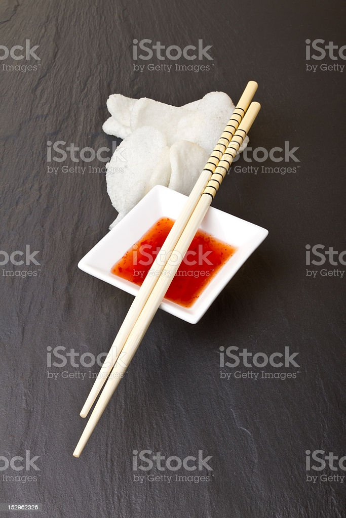 Prawn Crackers stock photo
