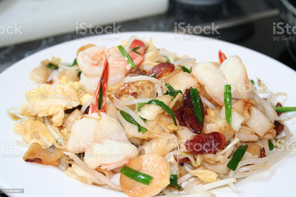 Prawn Noodle stock photo
