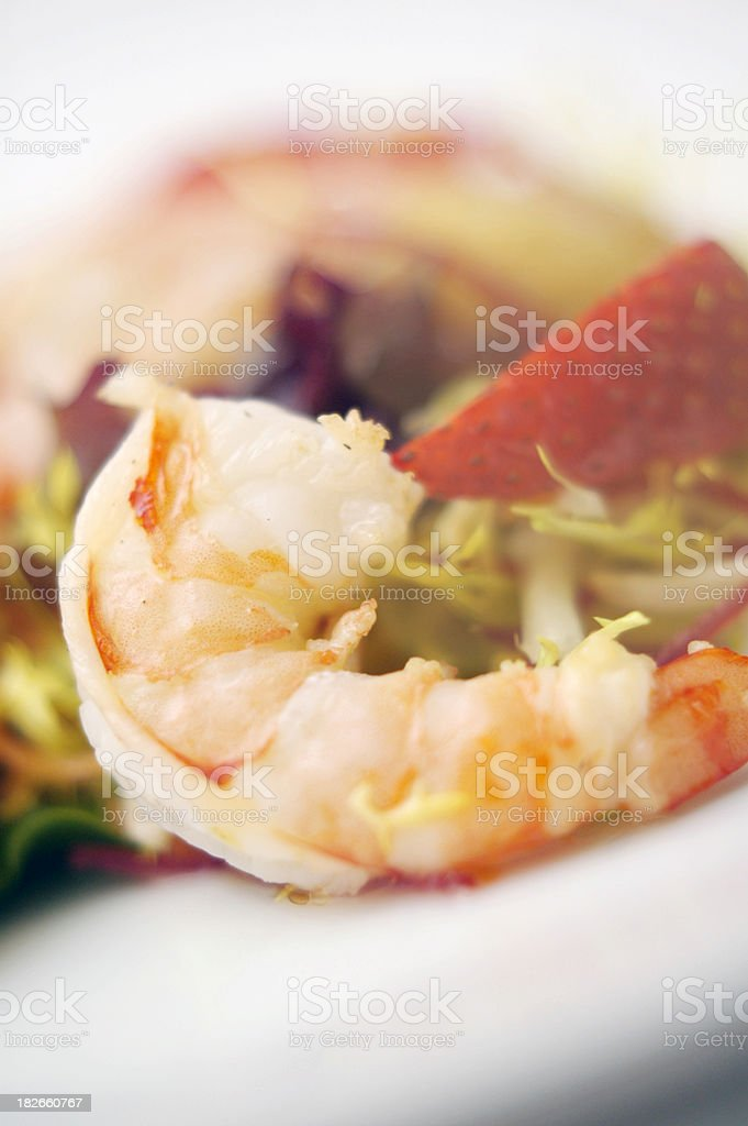 Prawn Salad Closeup 1 stock photo