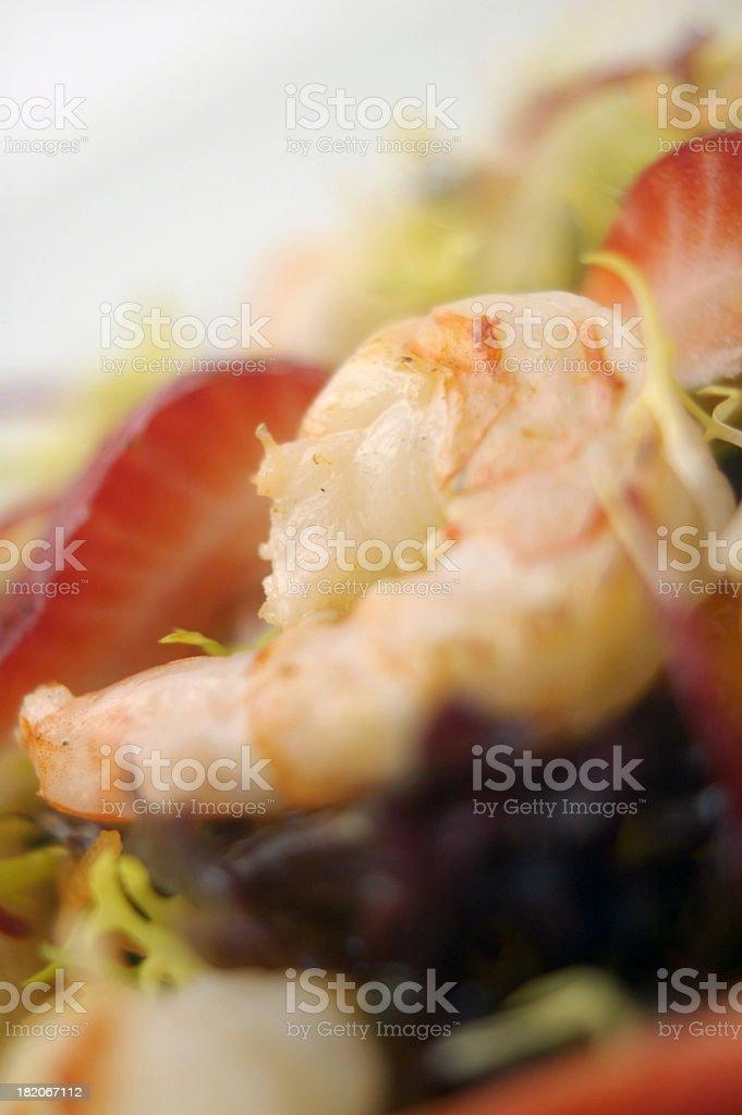 Prawn Salad Closeup 2 stock photo