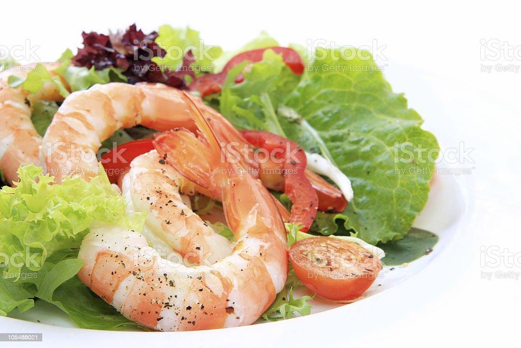 Prawn Salad royalty-free stock photo