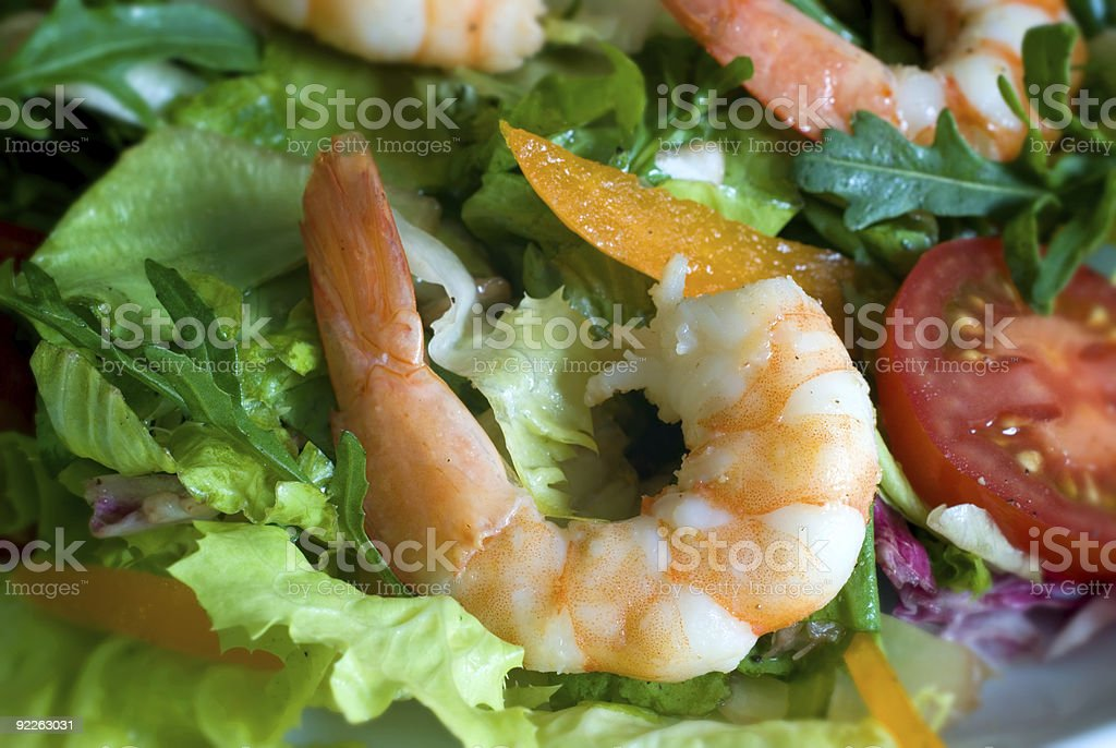 Prawn salad royalty-free stock photo