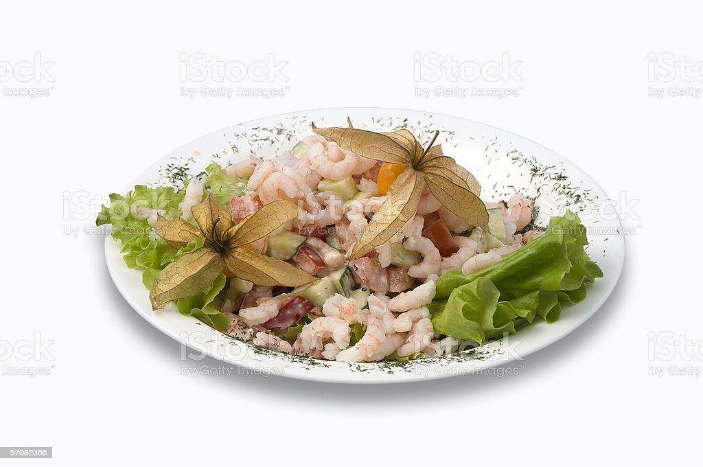 Prawn salad stock photo