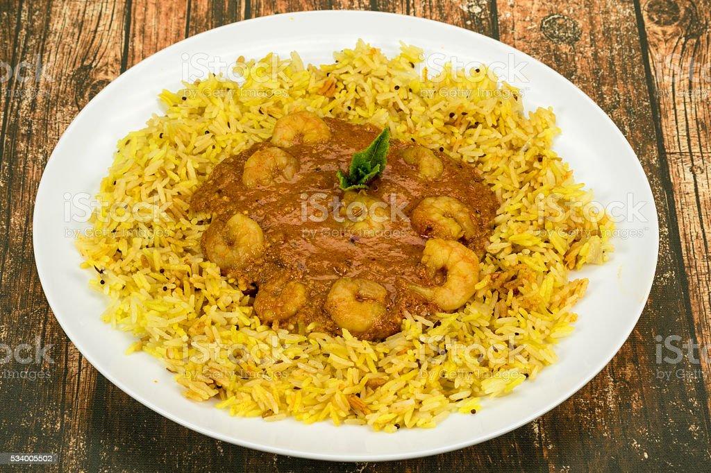 Prawn Tikka Masala curry stock photo