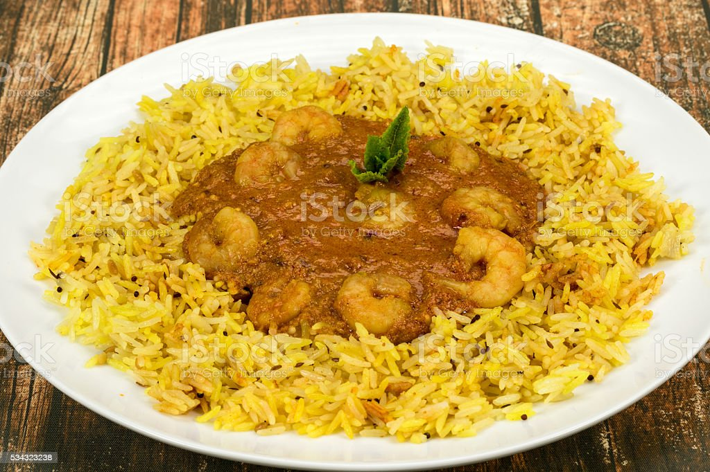 Prawn Tikka masala Indian curry stock photo