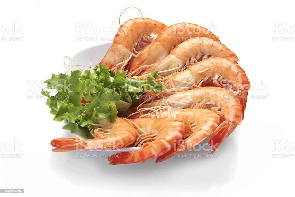 prawns in a dish royalty-free stock photo