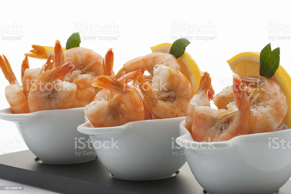 Prawns, Lemon in Three Cups stock photo