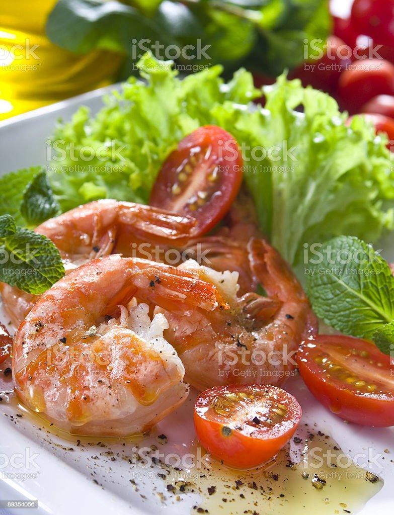 prawns royalty-free stock photo