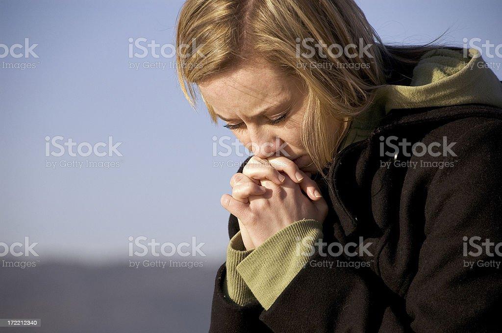 Pray 03 stock photo