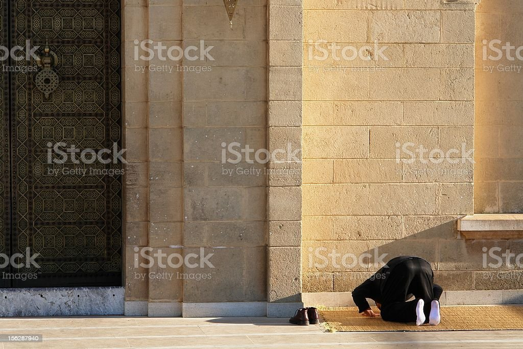Pray at the mosque royalty-free stock photo