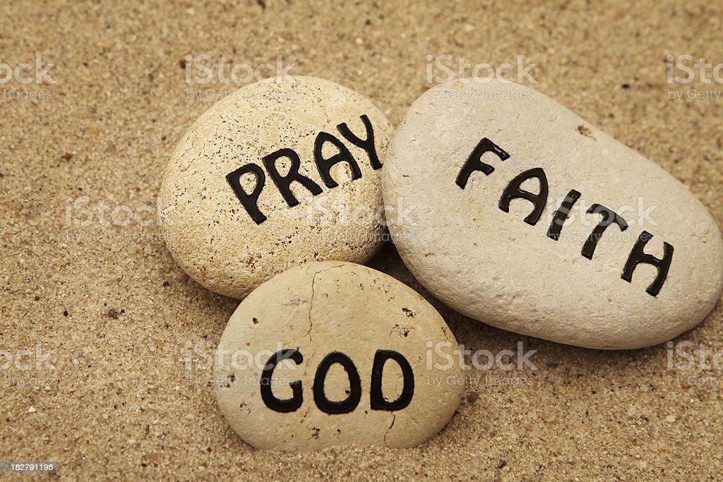 Pray, Faith, God royalty-free stock photo