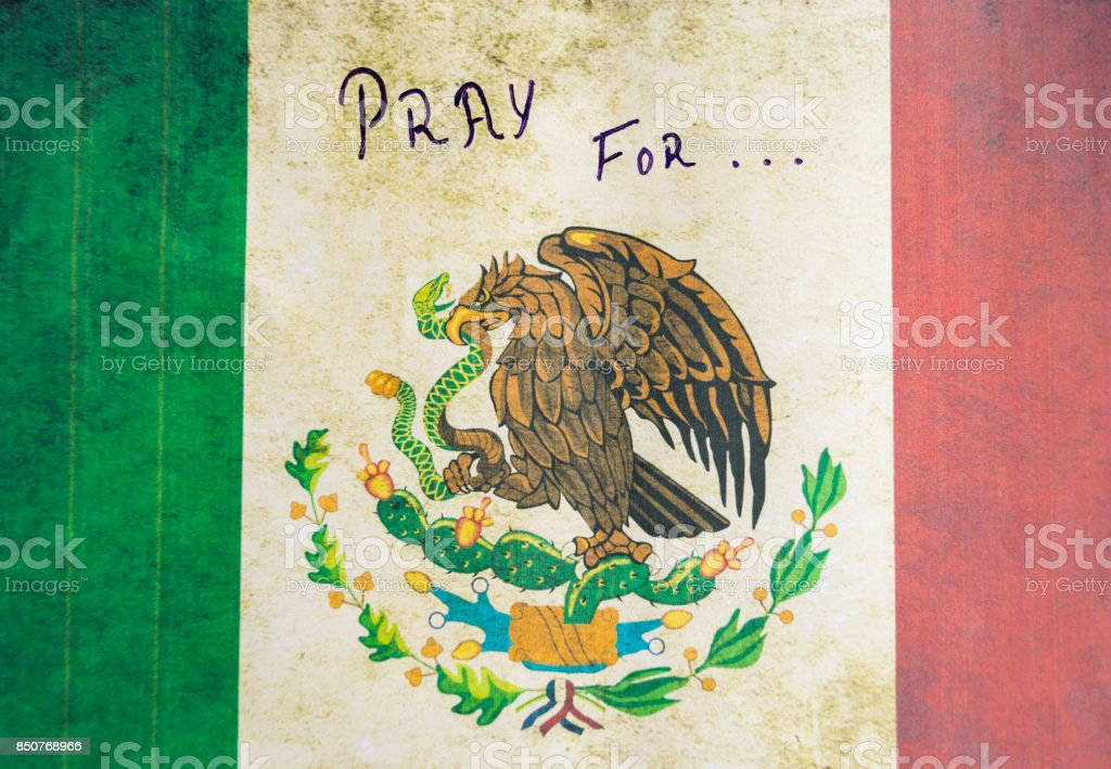 Pray for MEXICO stock photo