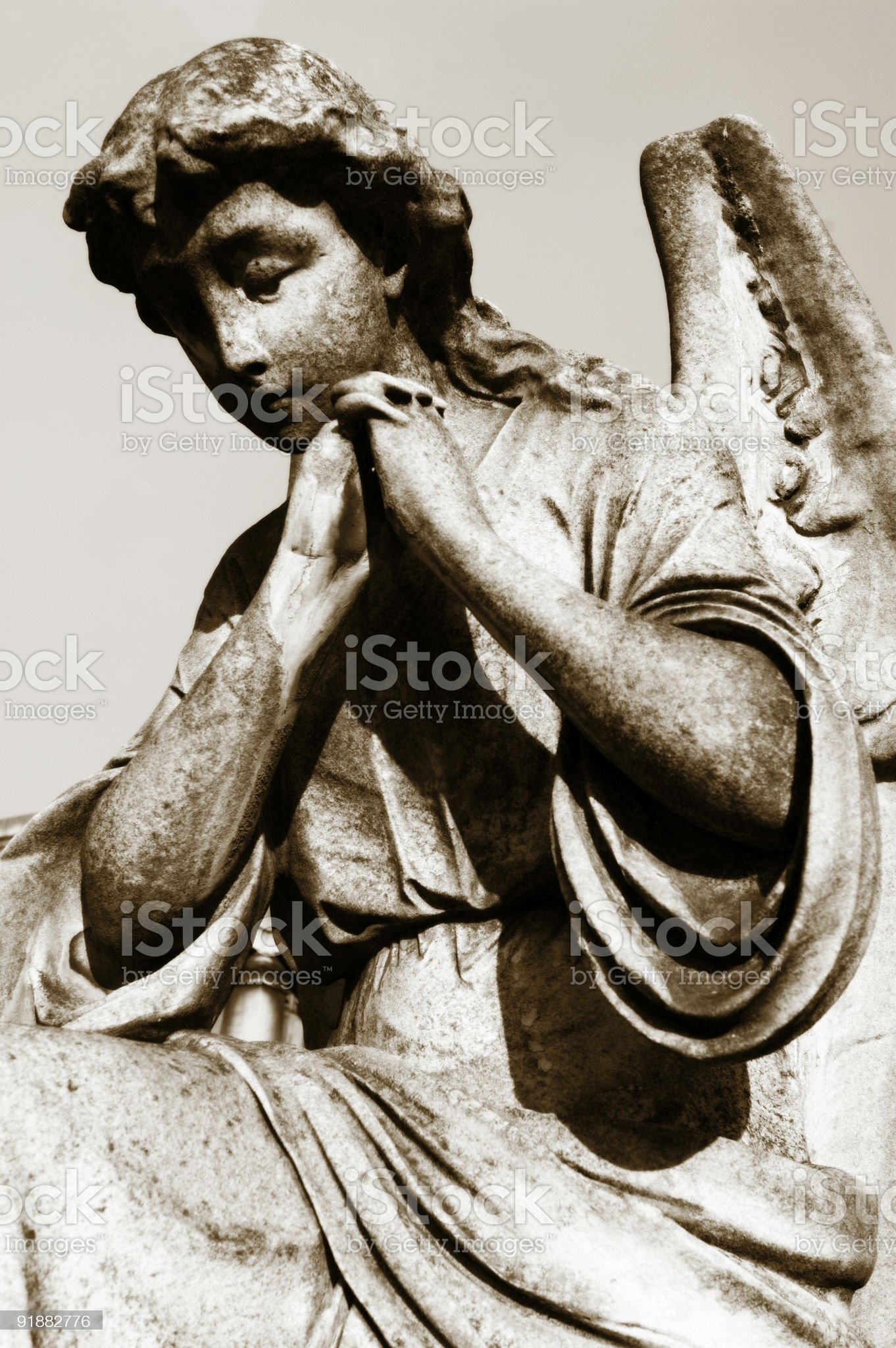 Pray for us royalty-free stock photo