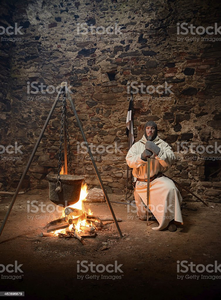Pray of the Crusader royalty-free stock photo