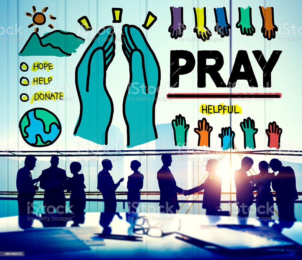 Pray Praying Hope Help Spirituality Religion Concept stock photo