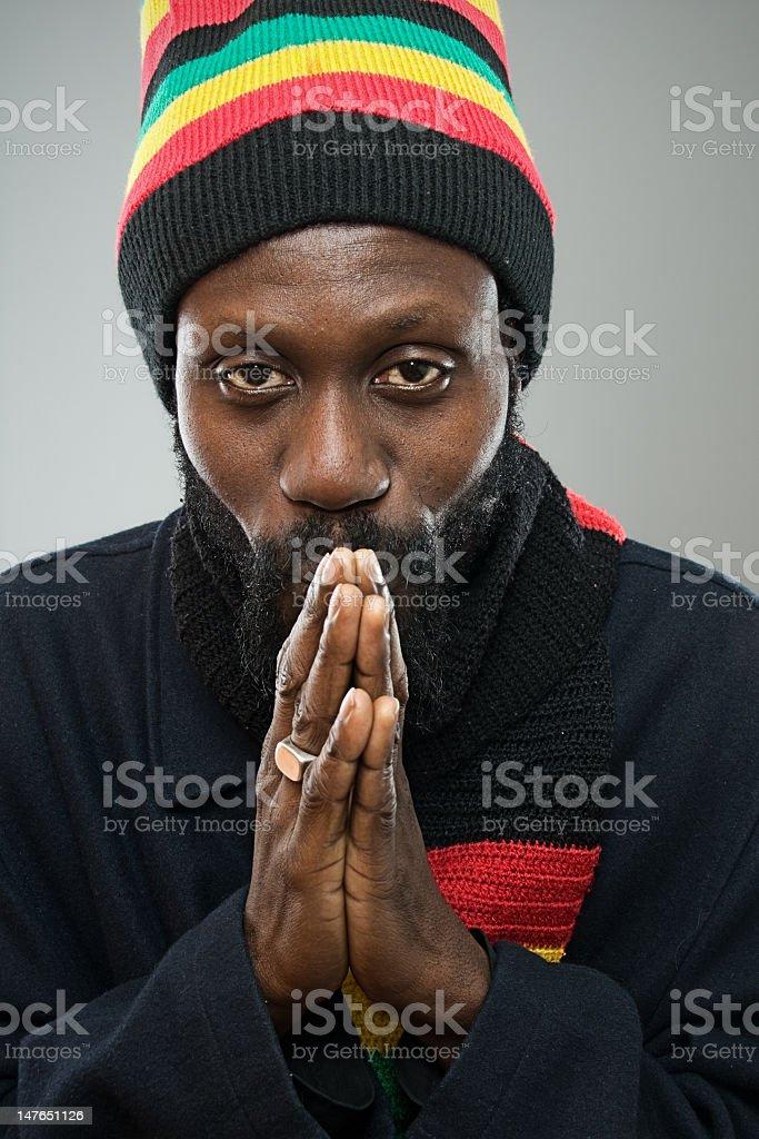 Pomodlić się do Jah! zbiór zdjęć royalty-free