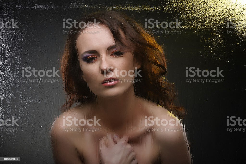 pray woman royalty-free stock photo