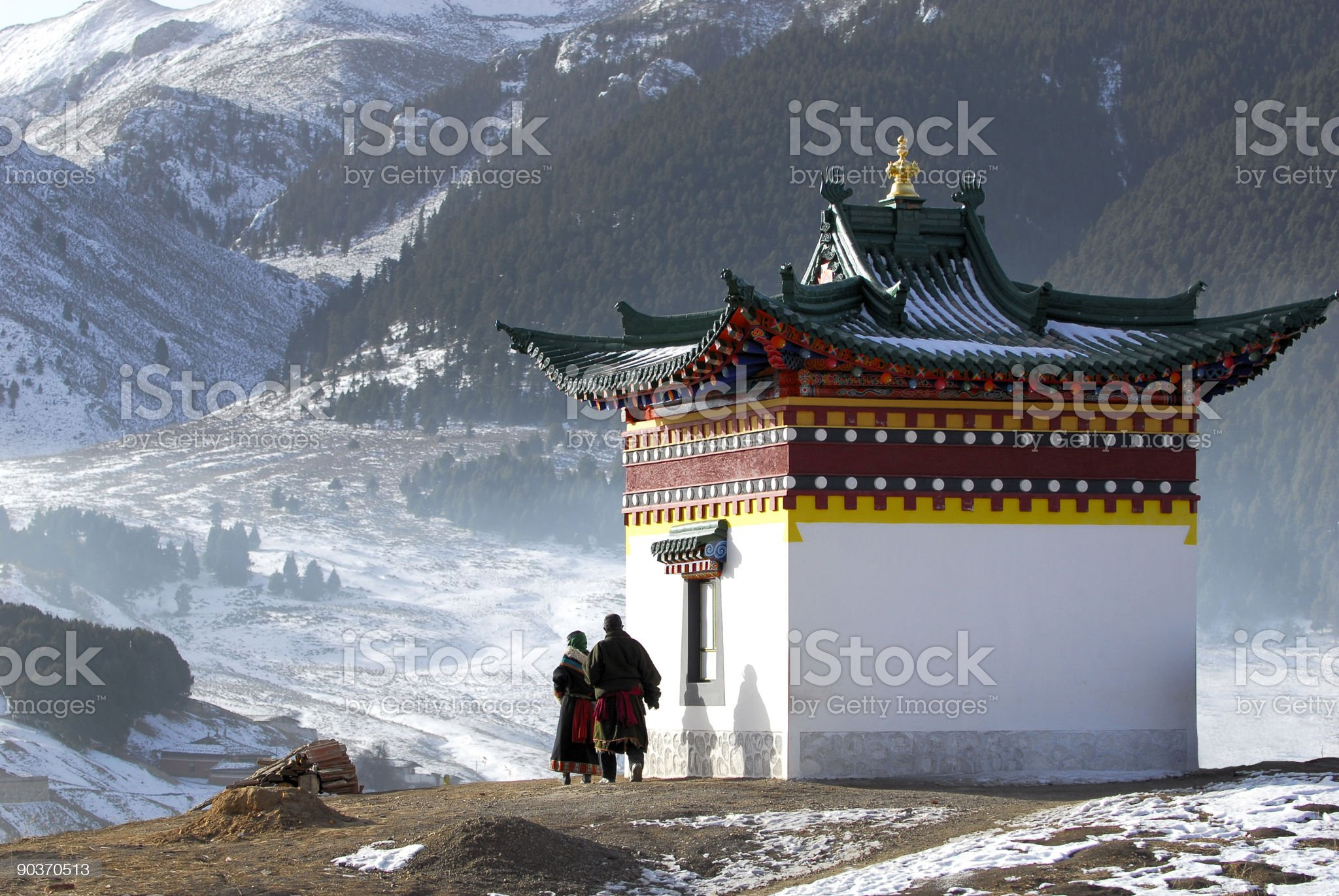Prayer and Temple royalty-free stock photo