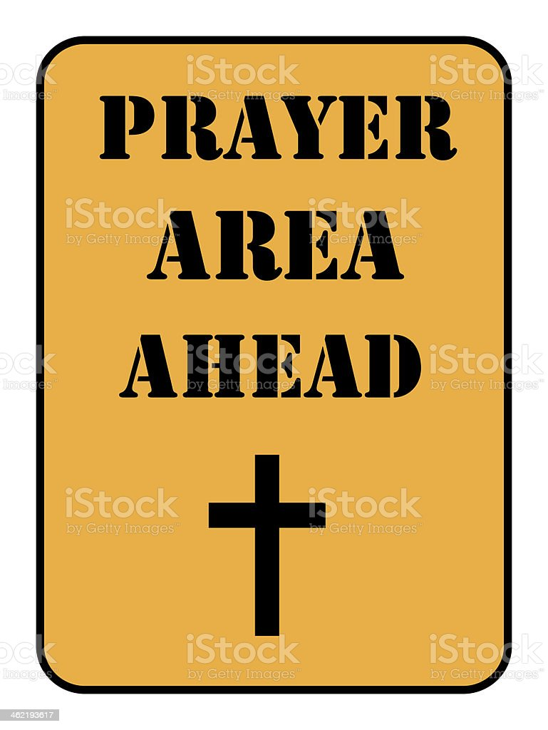 prayer area sign isolated royalty-free stock photo