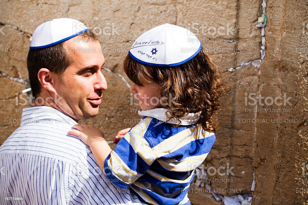 Prayer At The Wall royalty-free stock photo