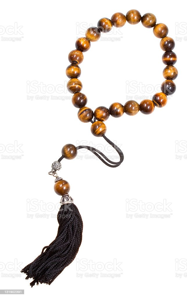 prayer bead isolated on white stock photo