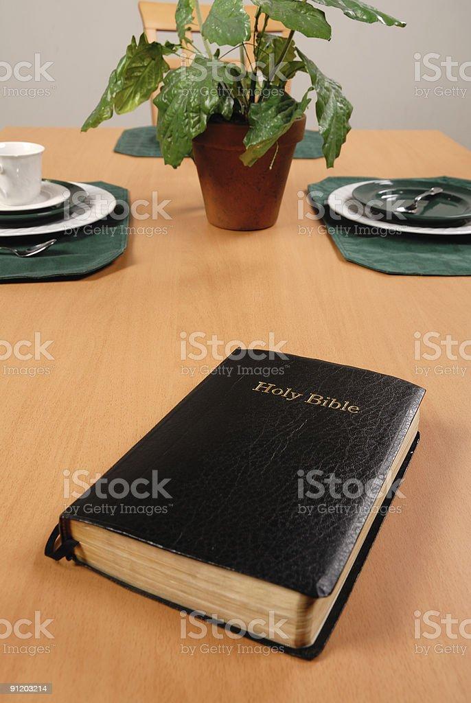 Prayer Before Dinner royalty-free stock photo