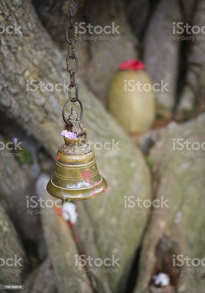 Prayer Bell and Shiva Lingam royalty-free stock photo