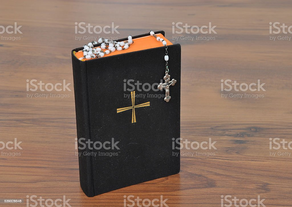 Prayer book with chaplet stock photo