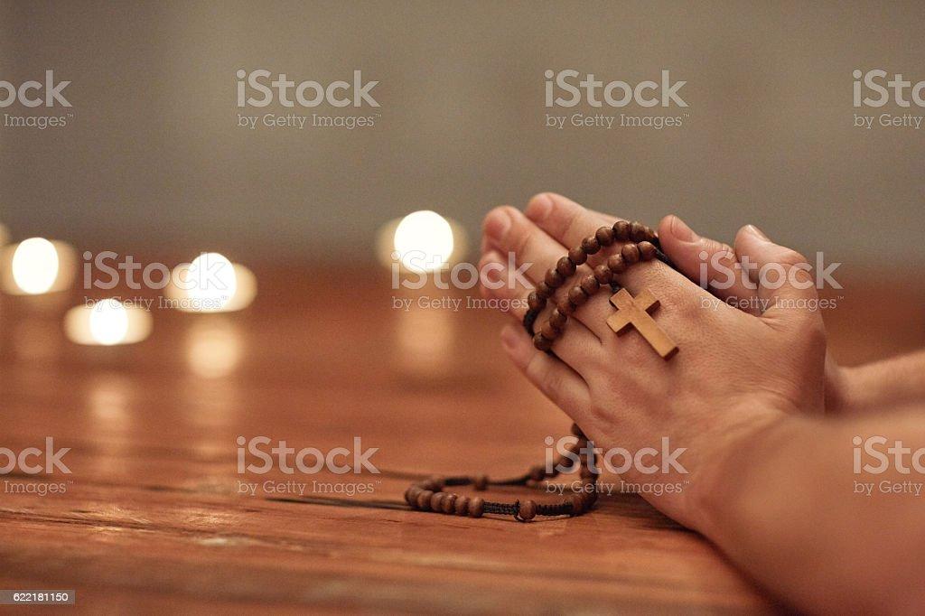 Prayer can change everything stock photo