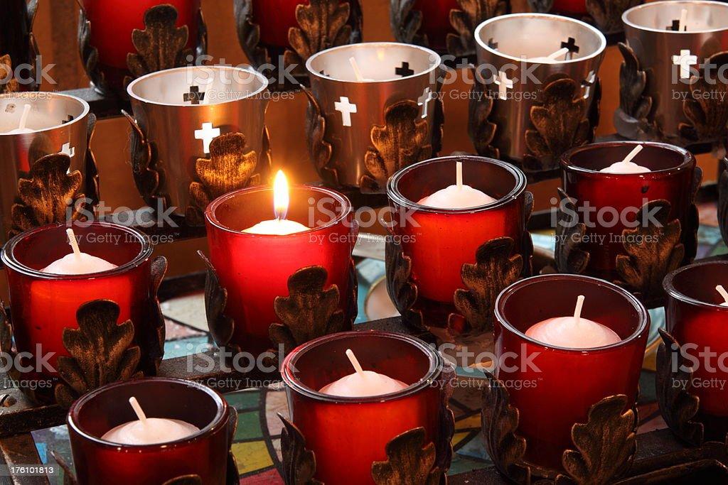 Prayer Candle royalty-free stock photo