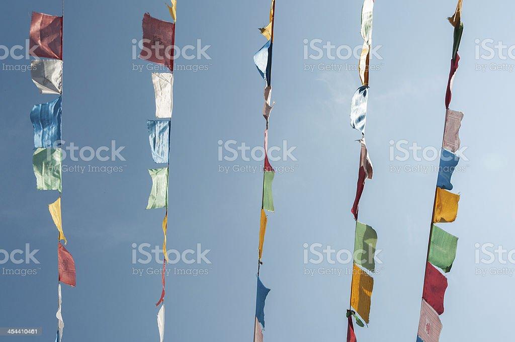 Prayer flag royalty-free stock photo