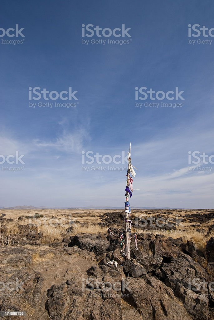 Prayer Flags at Captain Jack's Stronghold royalty-free stock photo