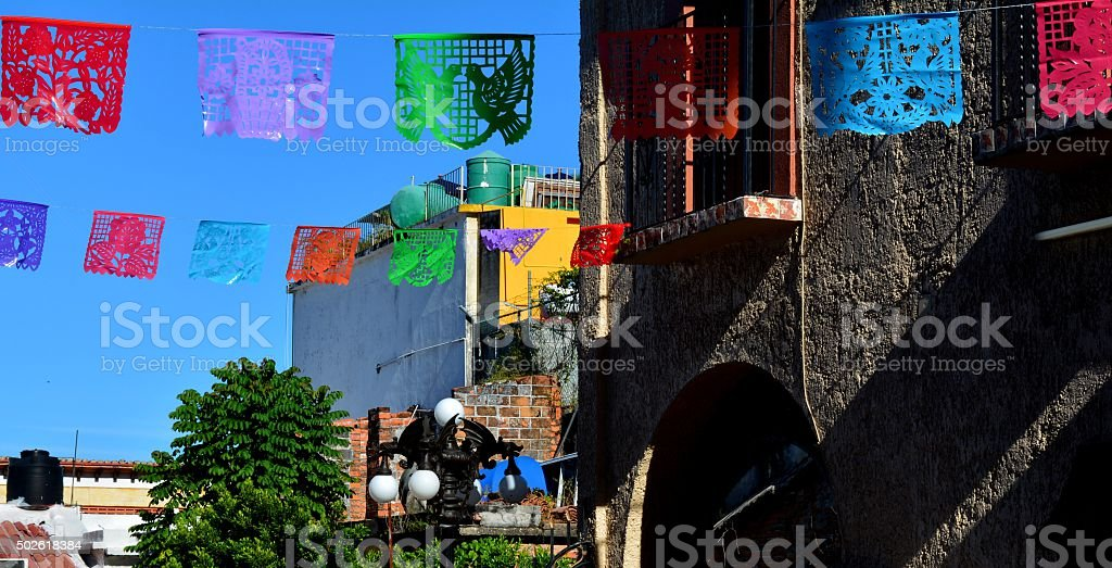 Prayer Flags - Colorful stock photo