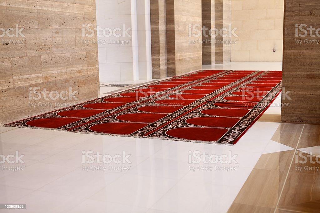 Prayer Hall, Al Fateh Mosque, Manama, Bahrain stock photo