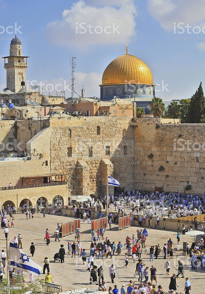 Prayer in the holiday of Sukkot stock photo